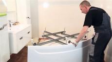 Установка каркаса на ванны и поддоны Тритон